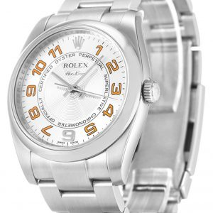 Rolex Air King Replica 114200 003 Silver Strap 34MM