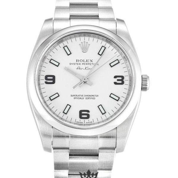 Rolex Air King Replica 114200 004 Silver Strap 34MM