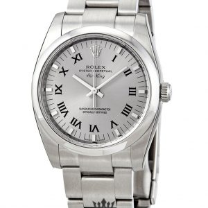 Rolex Air King Replica 114200GYRO Silver Strap 34MM