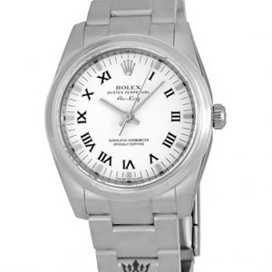 Rolex Air King Replica 114200WRO Silver Strap 34MM