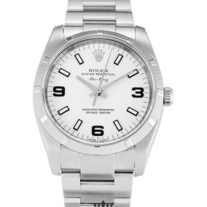 Rolex Air King Replica 114210 Silver Strap 34MM