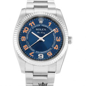 Rolex Air King Replica 114234 001 Silver Strap 34MM