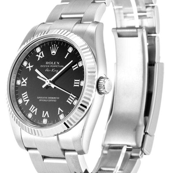 Rolex Air King Replica 114234 Silver Strap 34MM