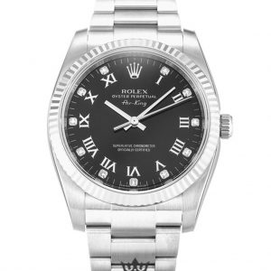 Rolex Air King Replica 114234 Silver Strap 34MM
