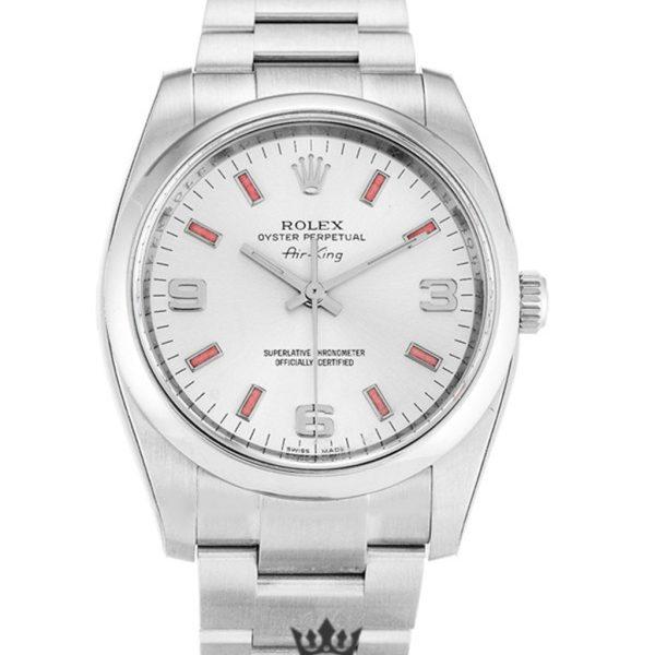 Rolex Air King Replica 14000 006 Silver Strap 34MM