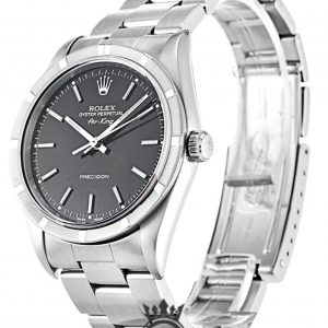 Rolex Air King Replica 14010 Silver Strap 34MM