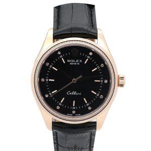 Rolex Cellini Replica 4233/8 001 Black Strap 25MM