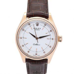 Rolex Cellini Replica 4233/8 002 Brown Strap 25MM