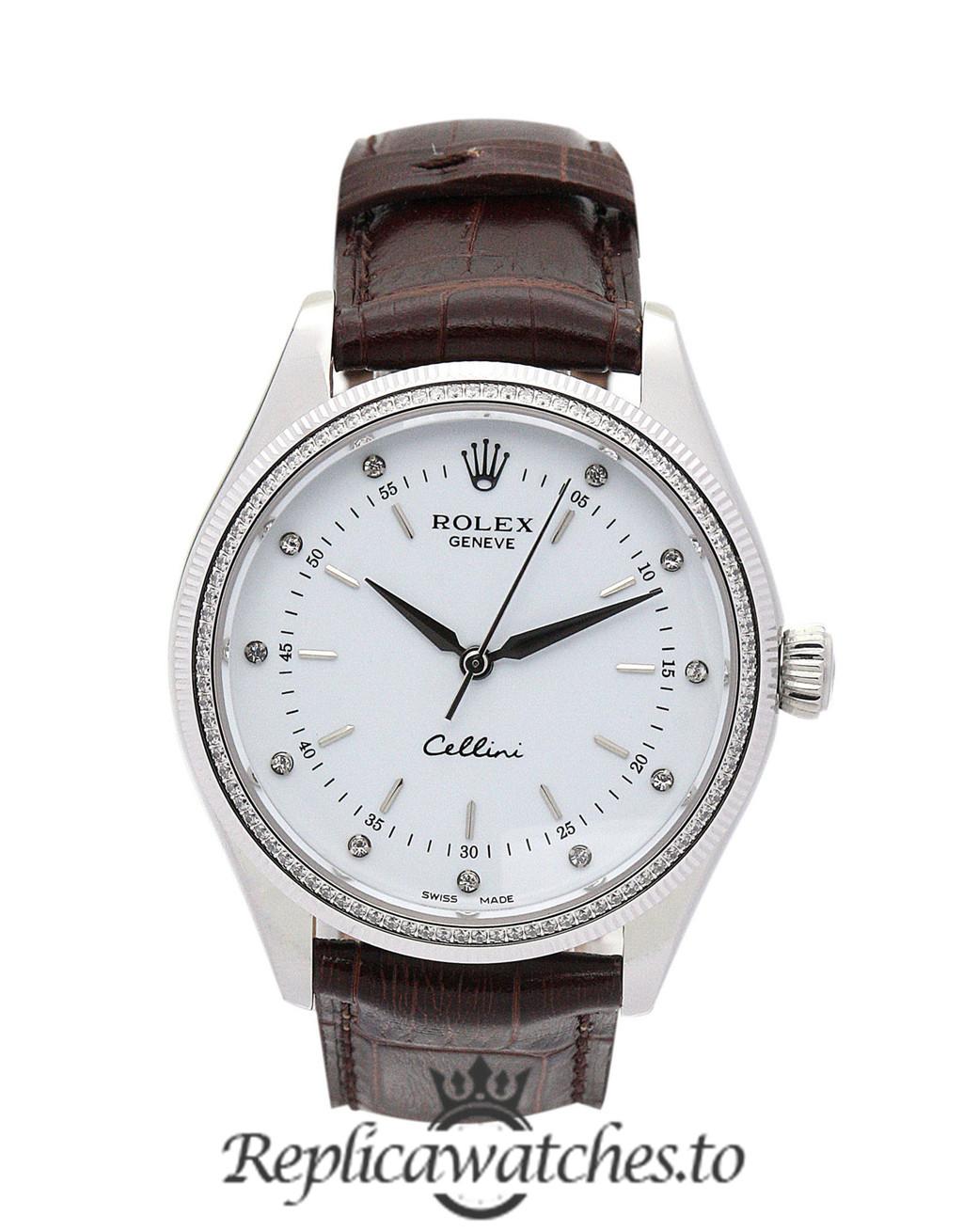 Rolex Cellini Replica 4233/8 003 Brown Strap 25MM
