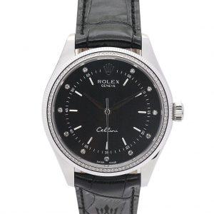Rolex Cellini Replica 4233/8 Black Strap 25MM