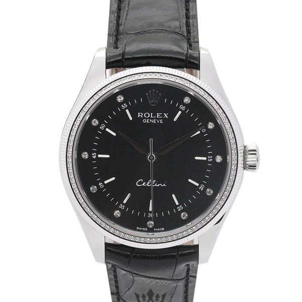 Rolex Cellini Replica 4233/8 Black Strap 25MM