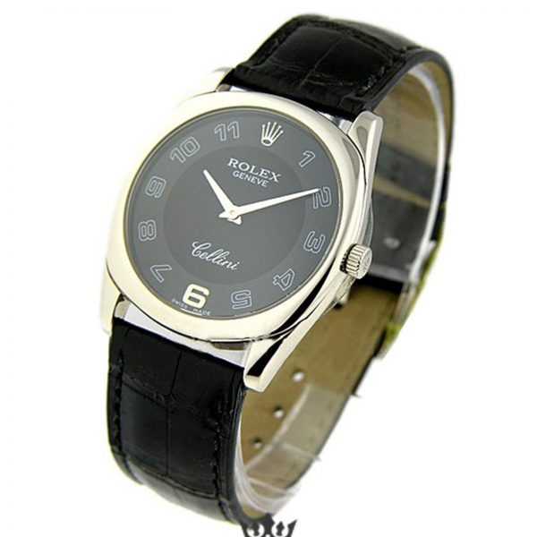 Rolex Cellini Replica 4233/9 Black Strap 33MM