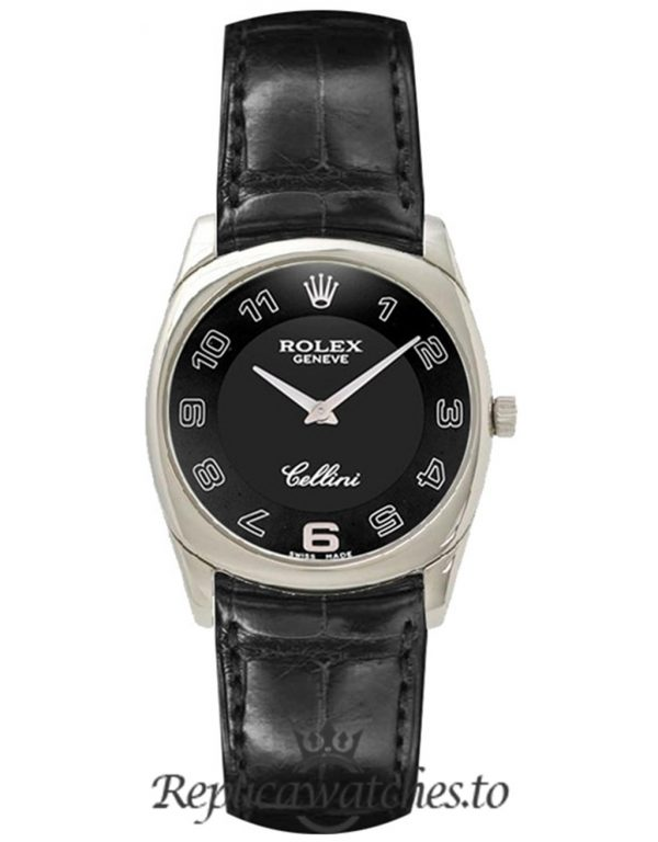 Rolex Cellini Replica 4233/9 Black Strap 33MM