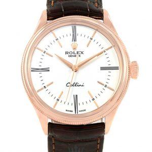 Rolex Cellini Replica 50505 001 Brown Strap 39MM