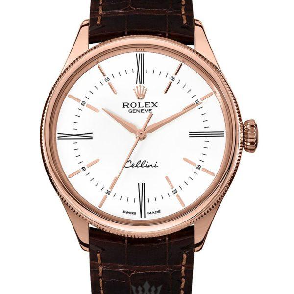 Rolex Cellini Replica 50505 002 Brown Strap 39MM