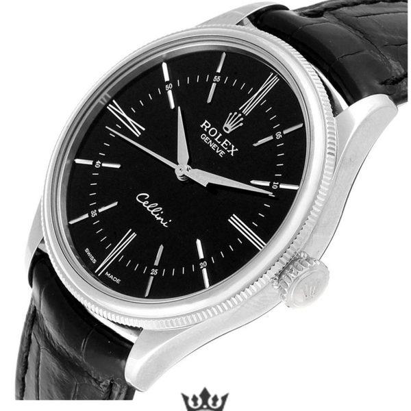 Rolex Cellini Replica 50509 Black Strap 39MM