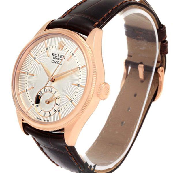 Rolex Cellini Replica 50525 001 Brown Strap 39MM