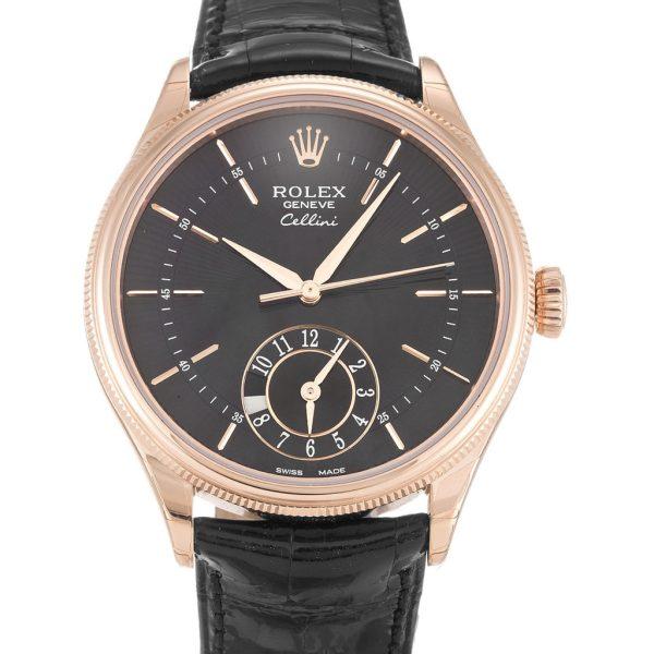 Rolex Cellini Replica 50525 002 Black Strap 39MM