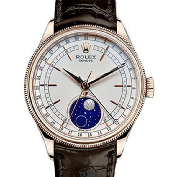 Rolex Cellini Replica 50535 Brown Strap 39MM