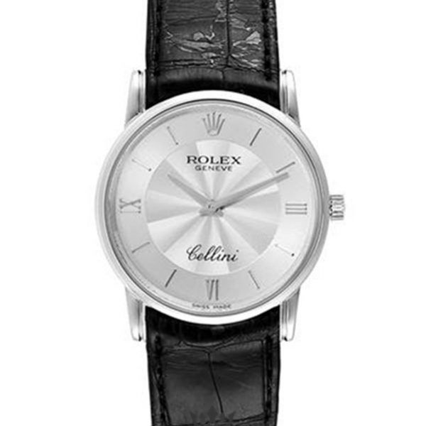 Rolex Cellini Replica 5116 Black Strap 32MM