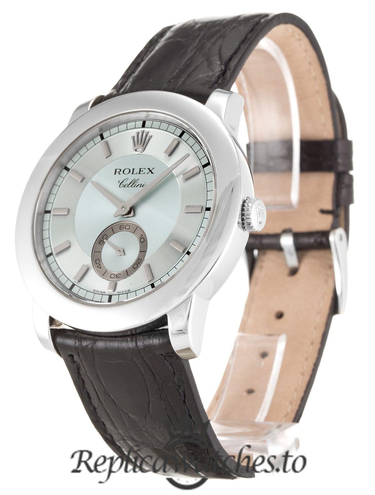 Rolex Cellini Replica 5241/6 001 Brown Strap 40MM
