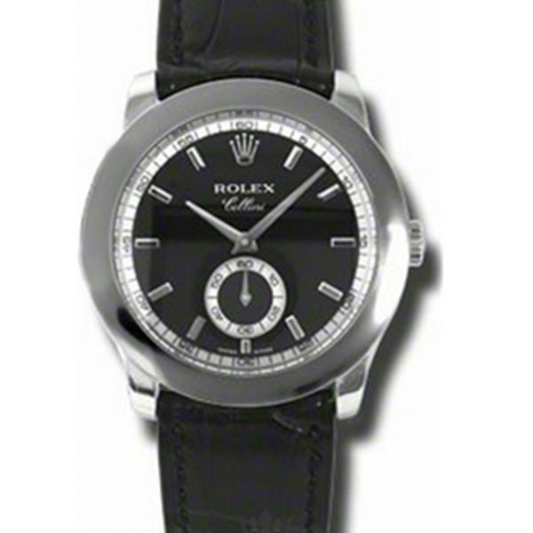 Rolex Cellini Replica 5241/6 Black Strap 38MM