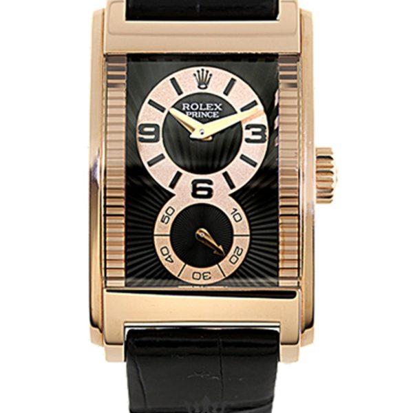 Rolex Cellini Replica 54425 Black Strap 45MM×29MM