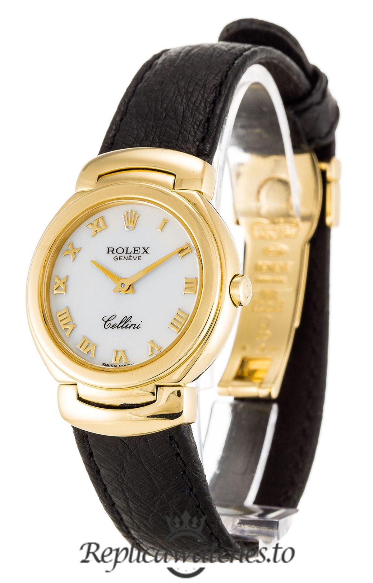 Rolex Cellini Replica 6621/8 Black Strap 26MM