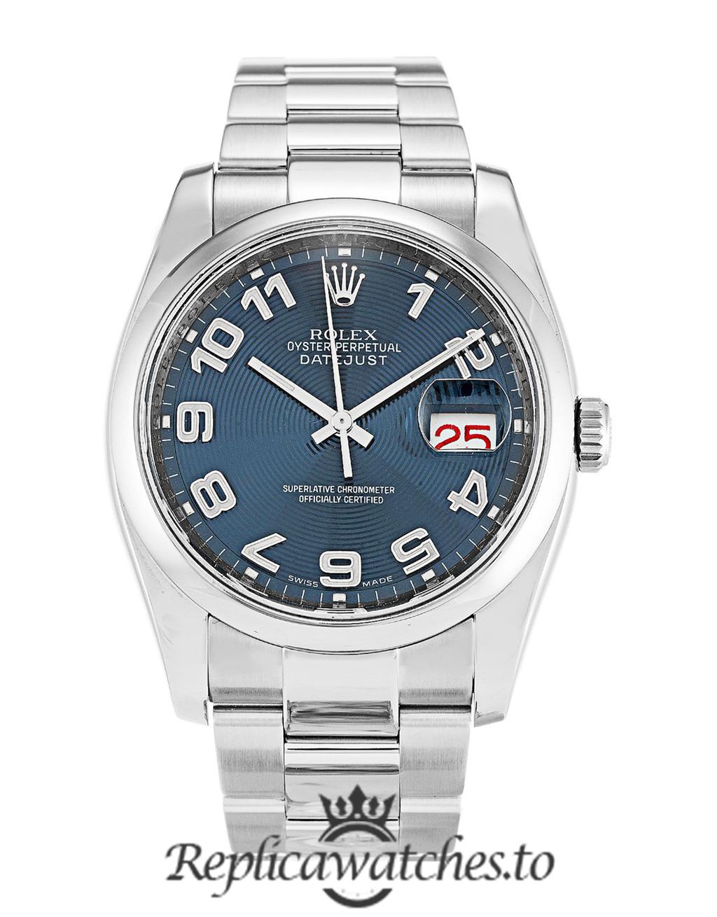 Rolex Datejust Replica 116200 001 Silver Bezel 36MM