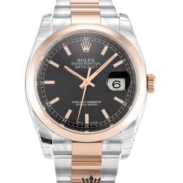 Rolex Datejust Replica 116201 Rose Gold Bezel 36MM
