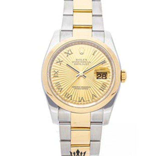 Rolex Datejust Replica 116203 001 Yellow Gold Bezel 36MM