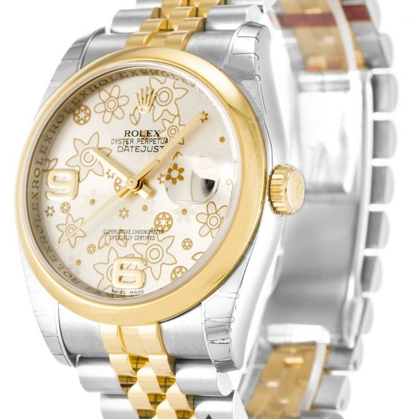 Rolex Datejust Replica 116203 002 Yellow Gold Bezel 36MM