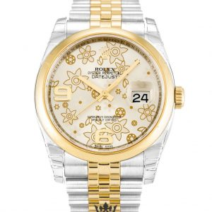 Rolex Datejust Replica 116203 002 Yellow Gold Bezel 36MM