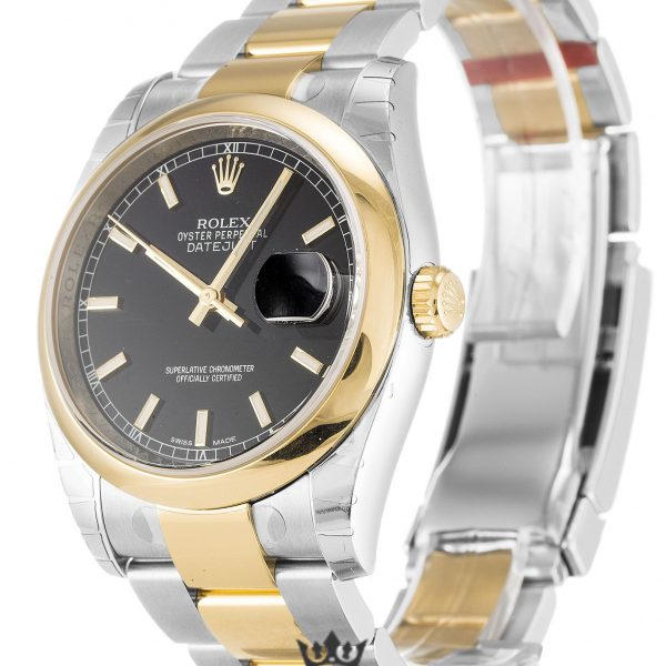 Rolex Datejust Replica 116203 Yellow Gold Bezel 36MM