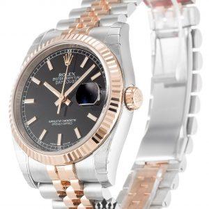 Rolex Datejust Replica 116231 001 Rose Gold Bezel 36MM