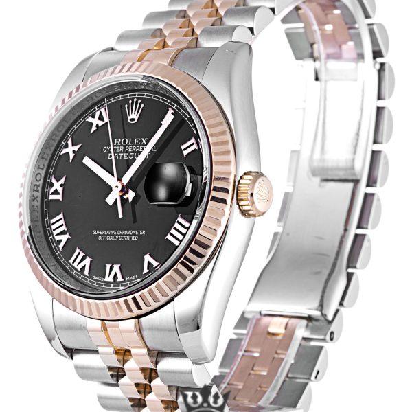 Rolex Datejust Replica 116231 Rose Gold Bezel 36MM