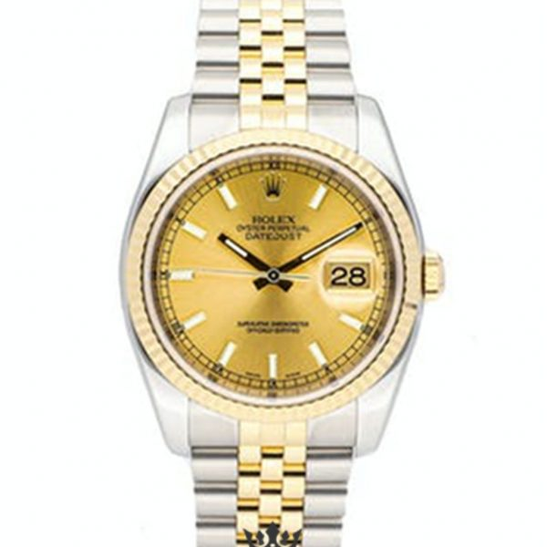 Rolex Datejust Replica 116233 004 Yellow Gold Strap 36MM