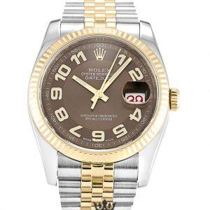 Rolex Datejust Replica 116233 005 Yellow Gold Bezel 36MM
