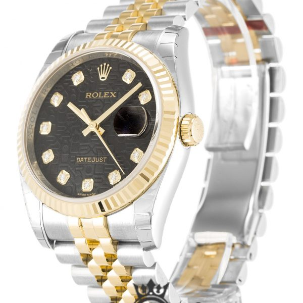 Rolex Datejust Replica 116233 Gold Bezel 36MM