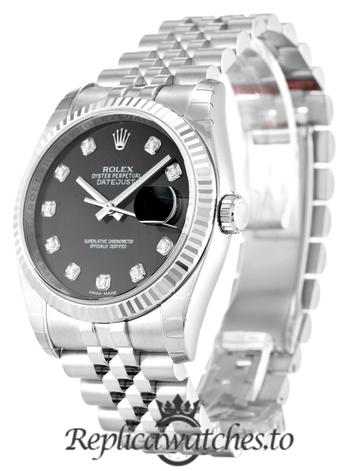 Rolex Datejust Replica 116234 001 Silver Strap 36MM
