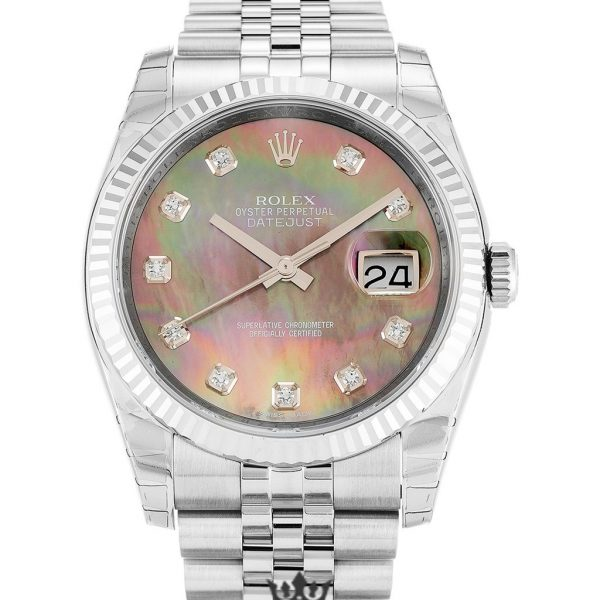 Rolex Datejust Replica 116234 004 Mother of Pearl Black Dial 36MM