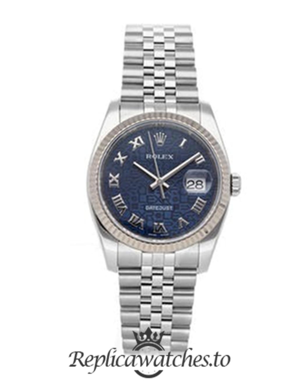 Rolex Datejust Replica 116234 Blue Dial 36MM