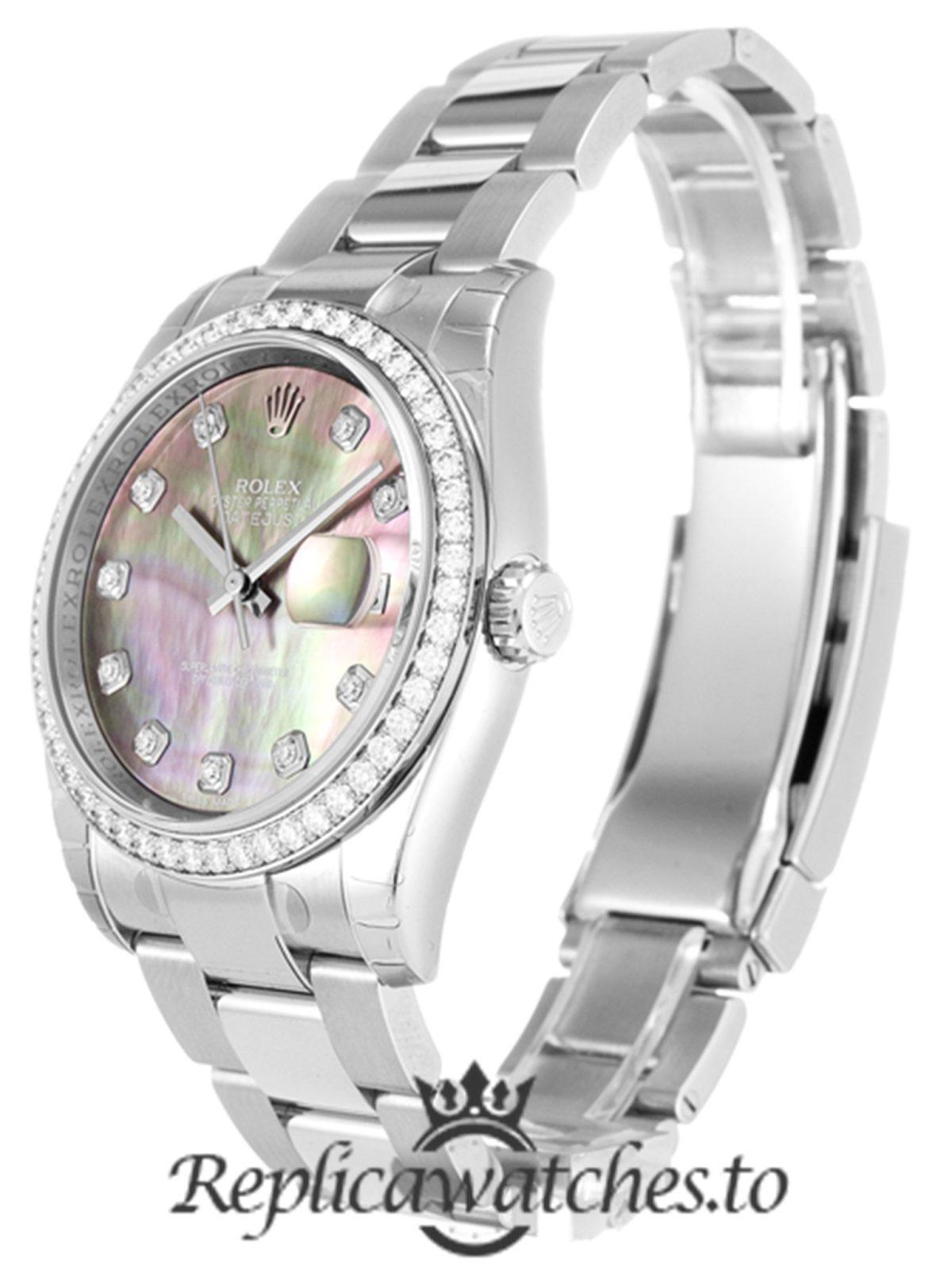Rolex Datejust Replica 116244 001 Silver Strap 36MM