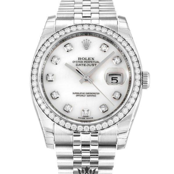 Rolex Datejust Replica 116244 002 Diamonds Bezel 36MM
