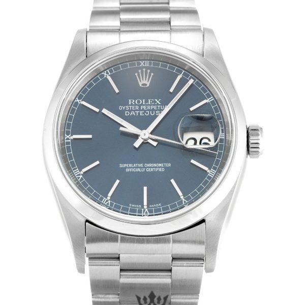 Rolex Datejust Replica 16200 001 Blue Dial 36MM