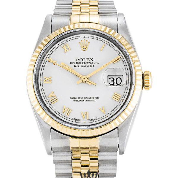 Rolex Datejust Replica 16233 001 Yellow Gold Bezel 36MM