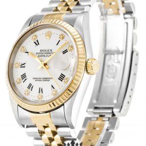 Rolex Datejust Replica 16233 002 Yellow Gold Bezel 36MM