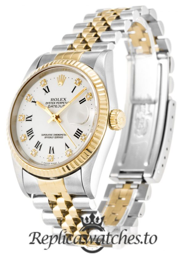 Rolex Datejust Replica 16233 002 Yellow Gold Bezel 36MM