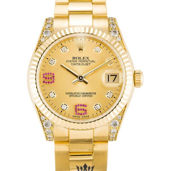 Rolex Datejust Replica 178238 Yellow Gold Strap 36MM