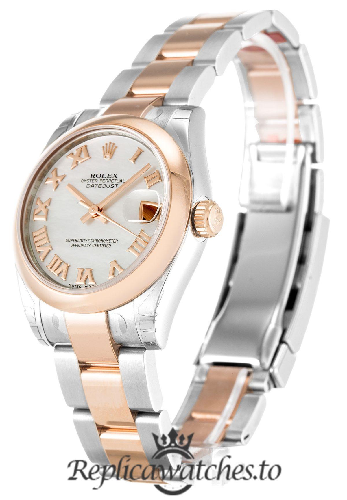 Rolex Datejust Replica 178241 Rose Gold Bezel 31MM